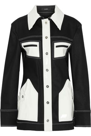 ELLERY Spector vinyl-paneled denim jacket