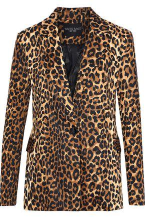 W118 by WALTER BAKER Elena leopard-print stretch-cotton blazer