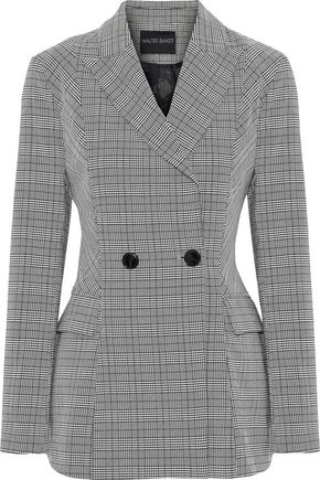 W118 by WALTER BAKER Suzette double-breasted checked woven blazer