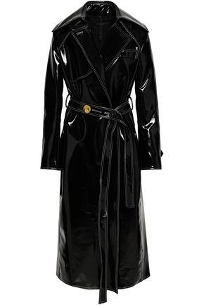 ELLERY Belted vinyl trench coat