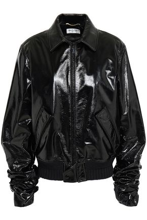 SAINT LAURENT Patent-leather jacket