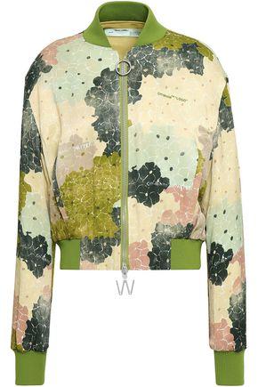 OFF-WHITE™ Printed satin bomber jacket