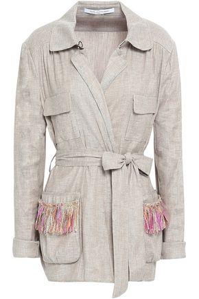 DIANE VON FURSTENBERG Linen-blend twill jacket