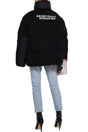VETEMENTS Printed jersey and shell down jacket