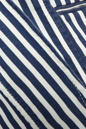 ROCKINS Striped cotton-blend blazer
