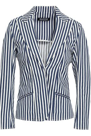 ROCKINS Striped cotton-blend blazer