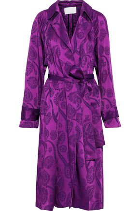 PETER PILOTTO Satin-jacquard trench coat