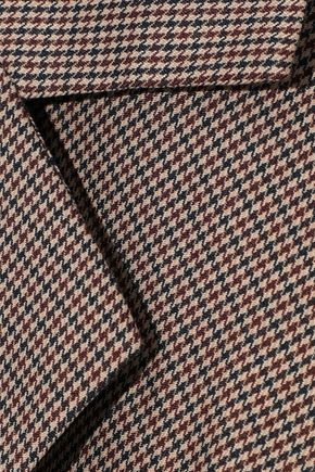 W118 by WALTER BAKER Patricia pleated houndstooth woven wrap blazer