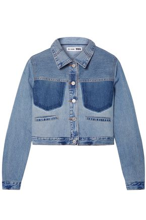 RE/DONE with LEVI'S Cropped two-tone denim jacket