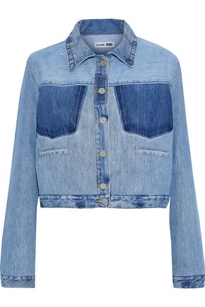 RE/DONE by LEVI'S Cropped two-tone denim jacket