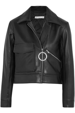 REJINA PYO Sara cropped leather biker jacket
