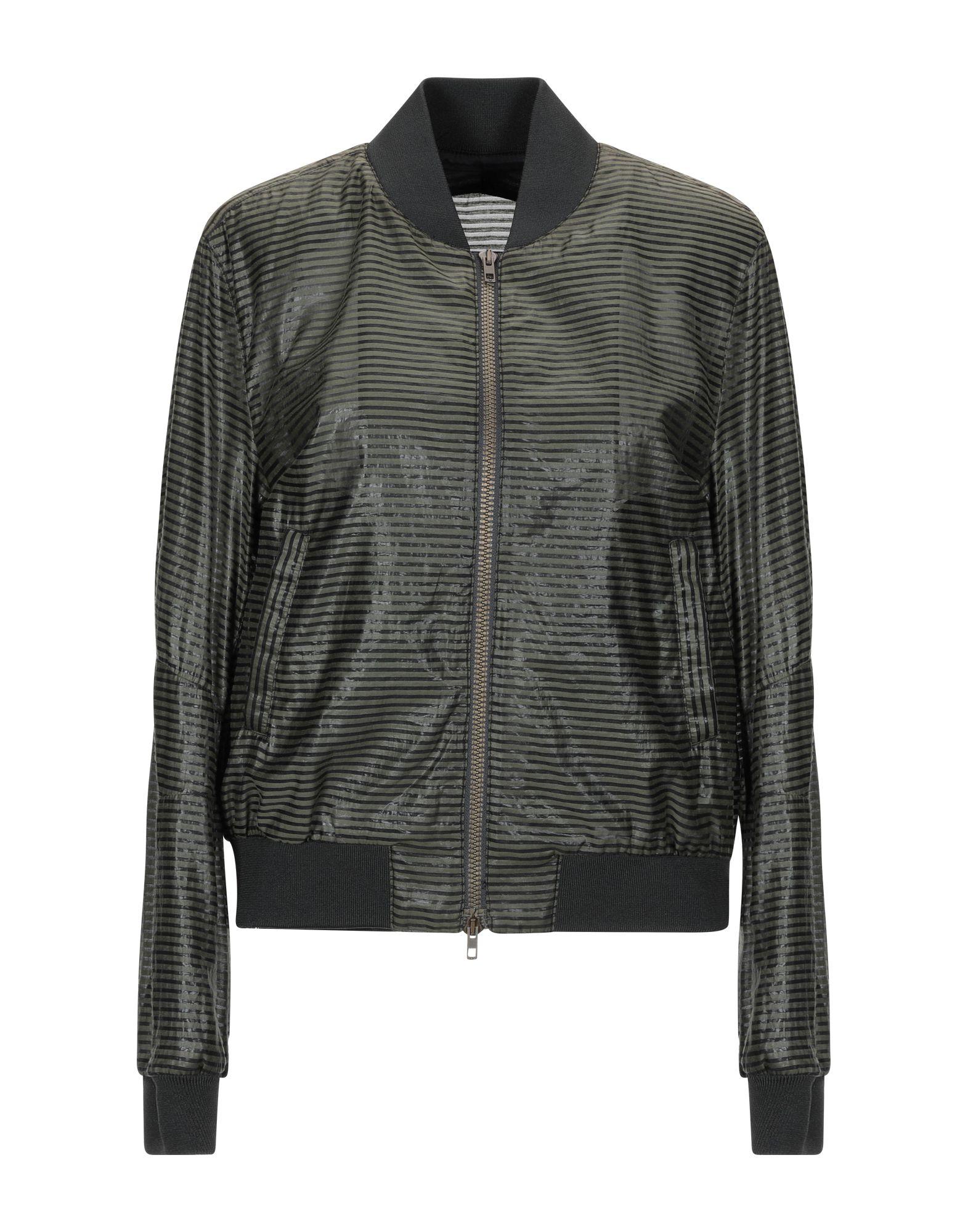 ESEMPLARE Куртка куртка бомбер короткая в полоску с вышивкой 100