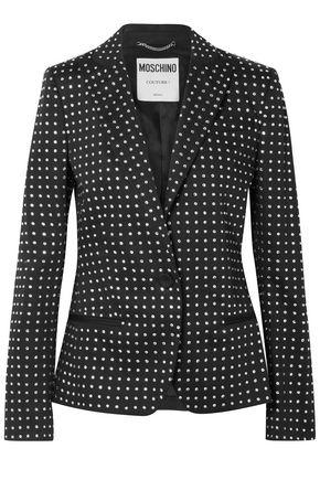 MOSCHINO Crystal-embellished stretch-cotton blazer