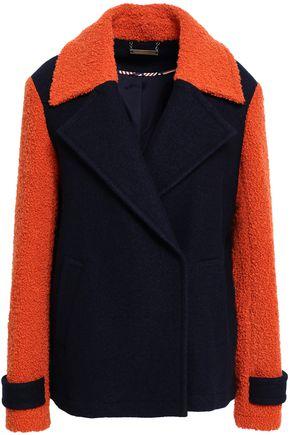 DIANE VON FURSTENBERG Two-tone wool-blend bouclé coat