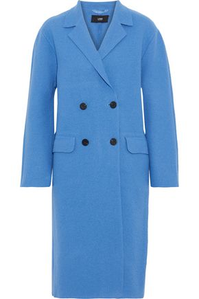 LINE Double-breasted cotton and wool-blend coat