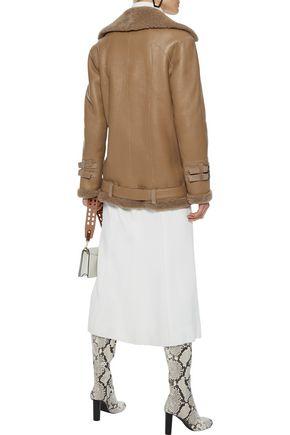 DOM GOOR Shearling biker jacket