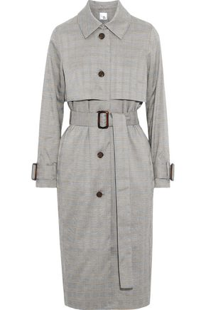 IRIS & INK Prince of Wales checked woven trench coat
