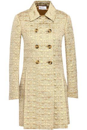 REDValentino Metallic jacquard trench coat
