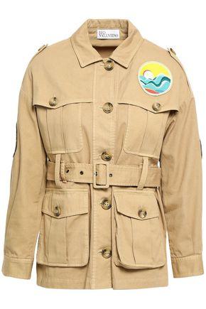 REDValentino Appliquéd cotton-gabardine jacket