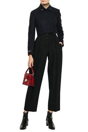 REDValentino Embellished cropped wool-blend jacket