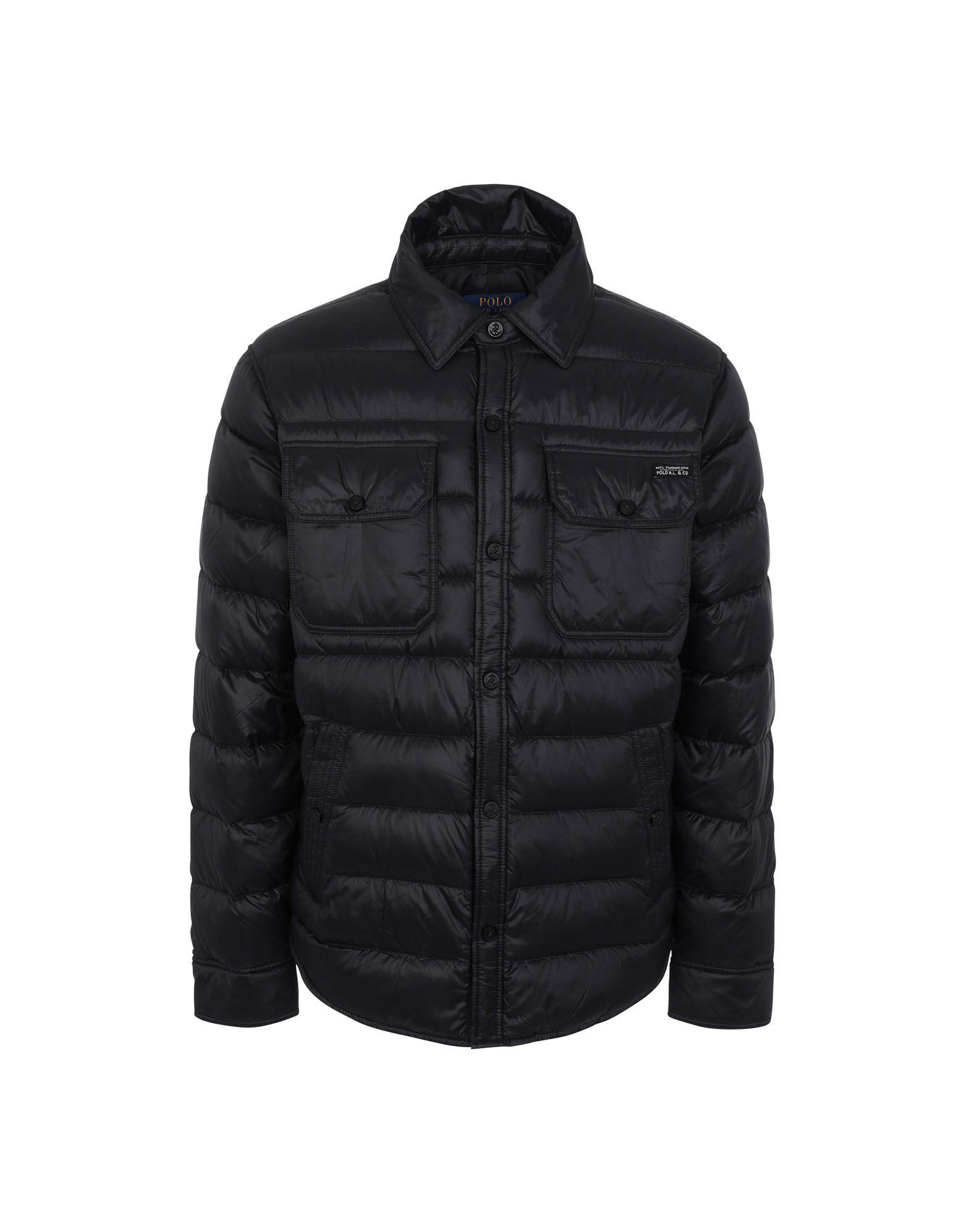 《セール開催中》POLO RALPH LAUREN メンズ ダウンジャケット ブラック XS ナイロン 100% Quilted Down Shirt Jacket