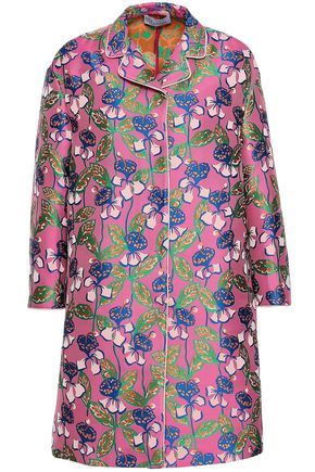 REDValentino Floral-jacquard coat