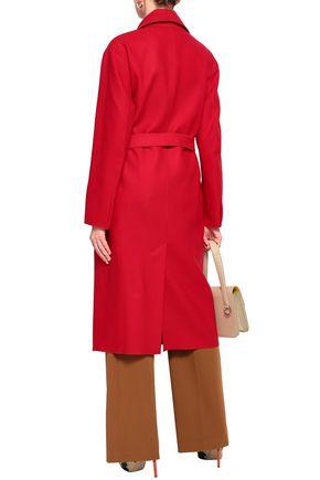AMANDA WAKELEY Belted wool-blend felt coat