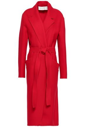 AMANDA WAKELEY Belted wool-blend felt coat