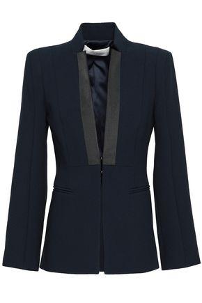 AMANDA WAKELEY Grosgrain-trimmed crepe blazer