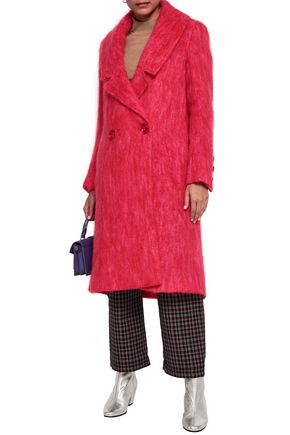 PAPER London Rainbow mohair-blend coat