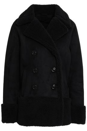 MOTHER Double-breasted faux shearling coat