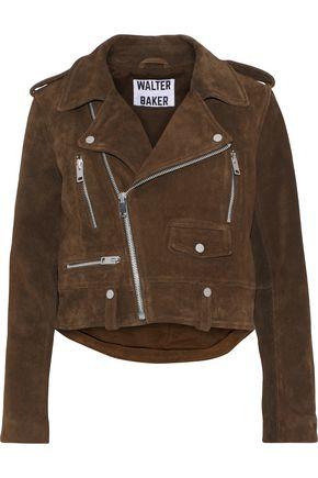 W118 by WALTER BAKER Darrin suede biker jacket