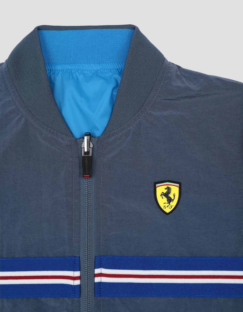 Scuderia Ferrari Online Store - Child's reversible bomber jacket in water resistant fabric - Bombers & Track Jackets