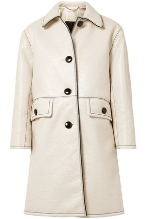 MARC JACOBS Crinkled coated-cotton coat