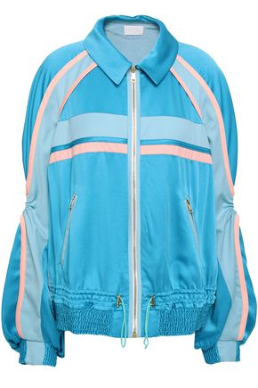 PETER PILOTTO Cutout twill-trimmed satin-crepe jacket