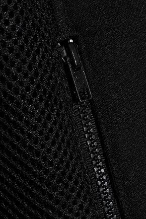 REDValentino Mesh-paneled neoprene jacket