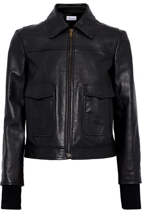 REDValentino Embroidered leather jacket