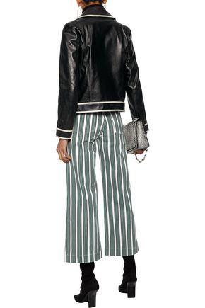 REDValentino Leather biker jacket