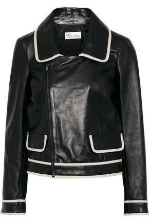 REDValentino Leather biker jacket