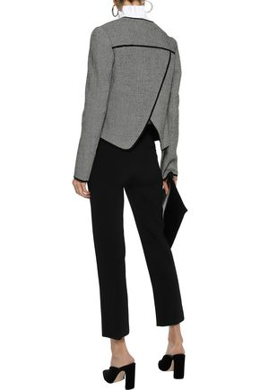 DEREK LAM 10 CROSBY Houndstooth wool-blend blazer
