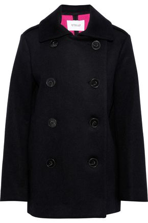 DEREK LAM 10 CROSBY Double-breasted wool and angora-blend coat