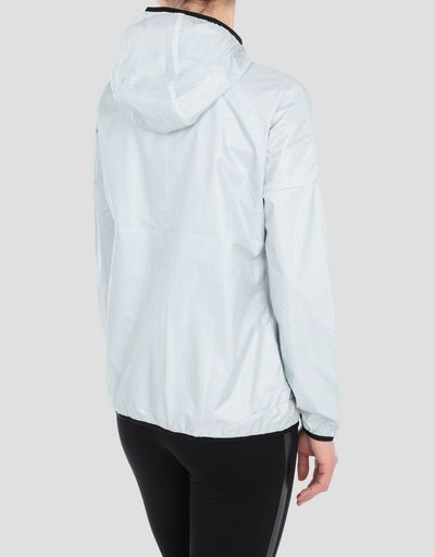 Women's technical fabric jacket with hood