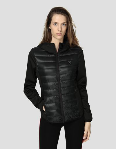 Women's Softshell jacket with Real Down padding