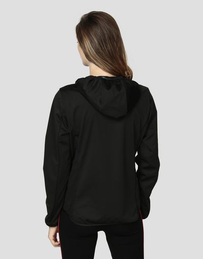 Women's jacket in Softshell with real down filling
