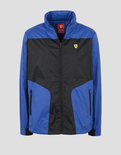Scuderia Ferrari Online Store - Foldable men's jacket in water resistant fabric - Raincoats
