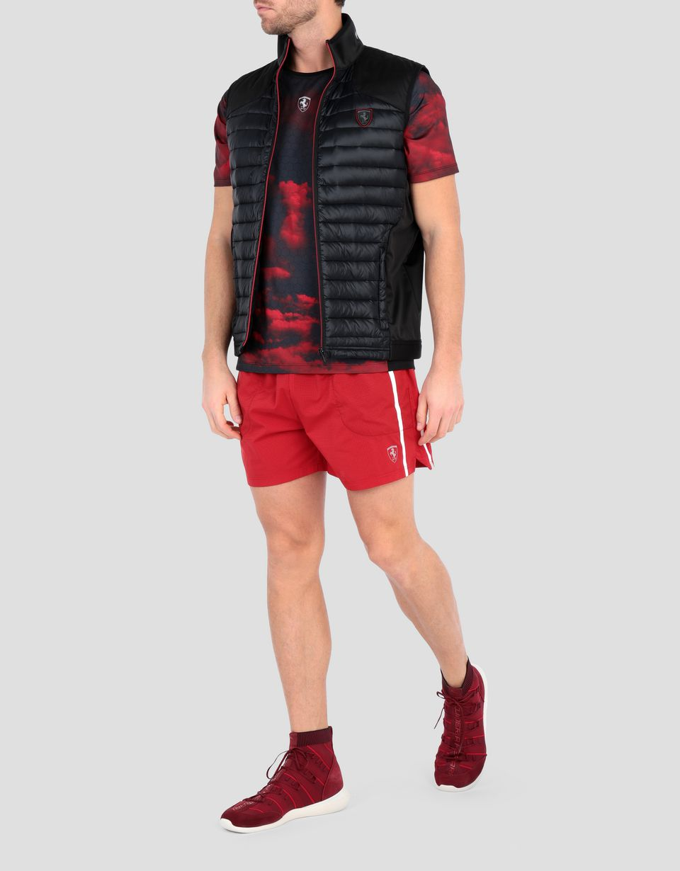 Scuderia Ferrari Online Store - Men's softshell vest with real down - Vests