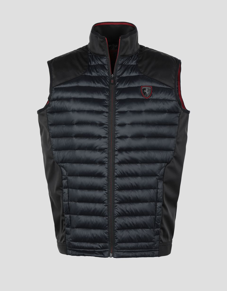 Scuderia Ferrari Online Store - Men's Softshell gilet with real down lining - Vests