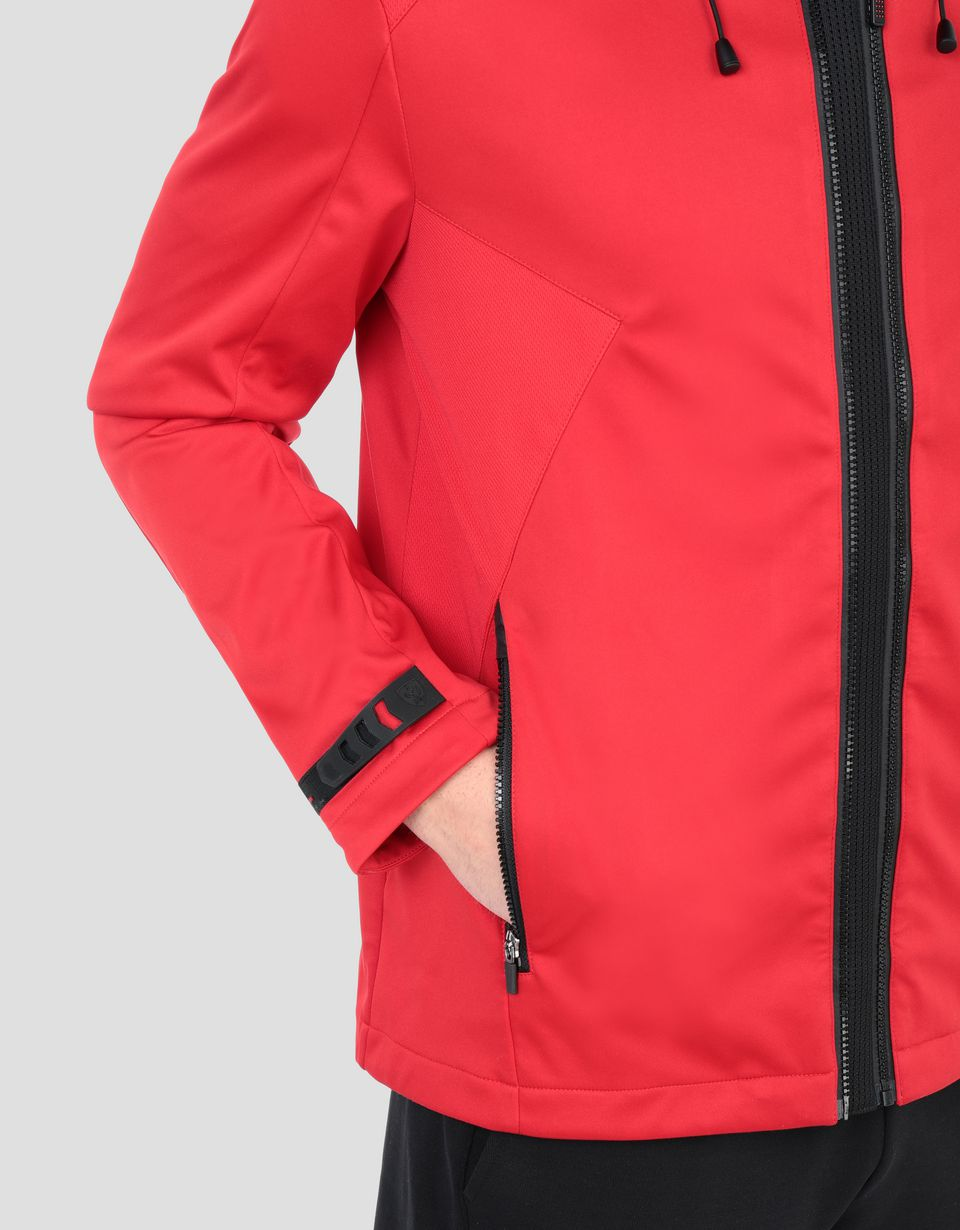 Scuderia Ferrari Online Store - Men's softshell hooded jacket -