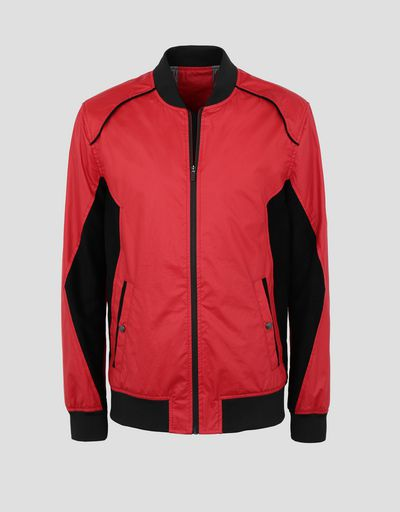 Scuderia Ferrari Online Store - Men's bomber jacket with perforated side panels - Bombers & Track Jackets