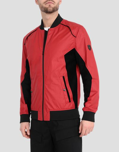Men's bomber jacket with perforated side panels